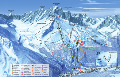 Ski season's opening at Grands Montets